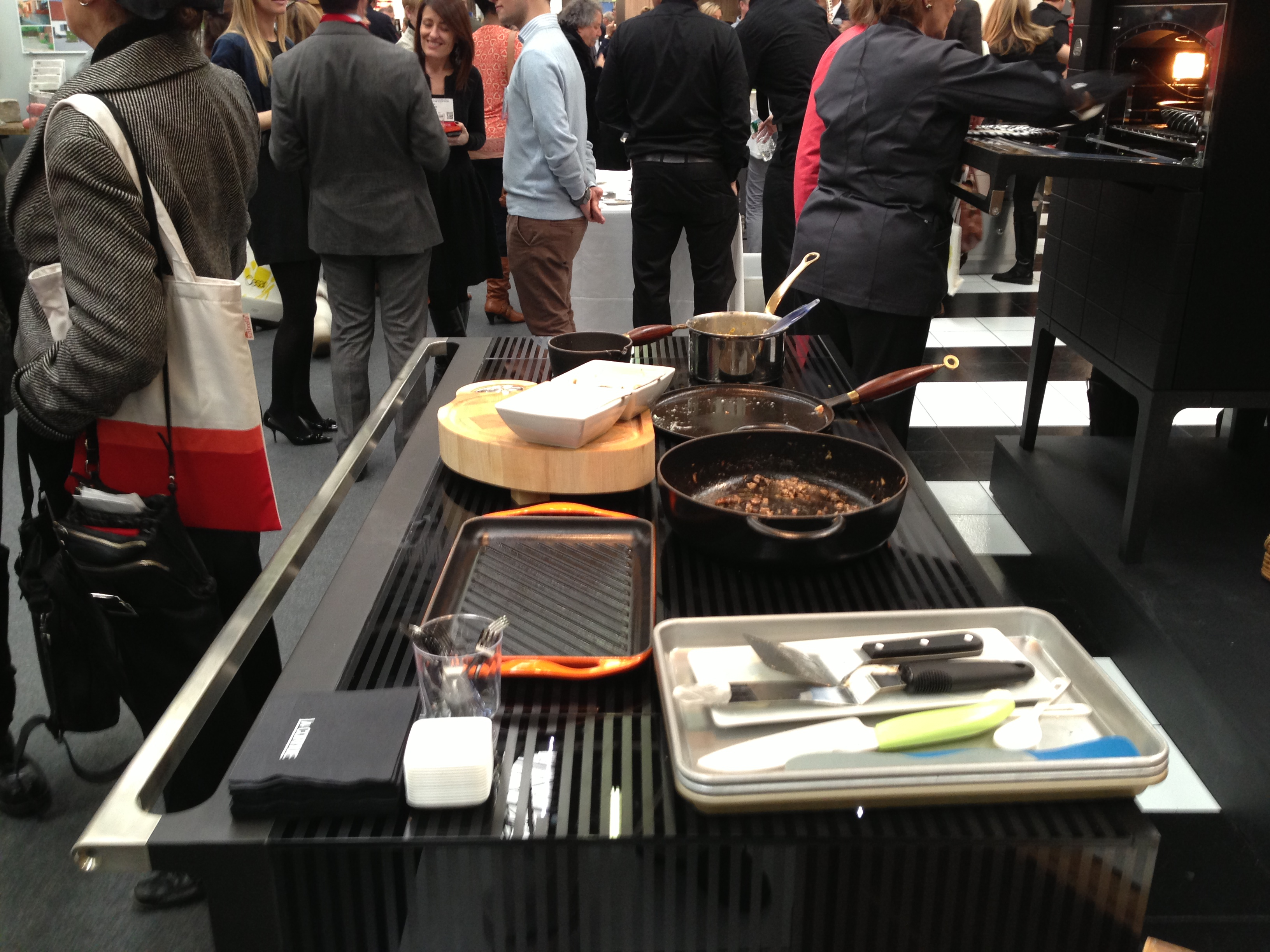 The architectural digest show part 1 kieffer 39 s appliances for Table induction
