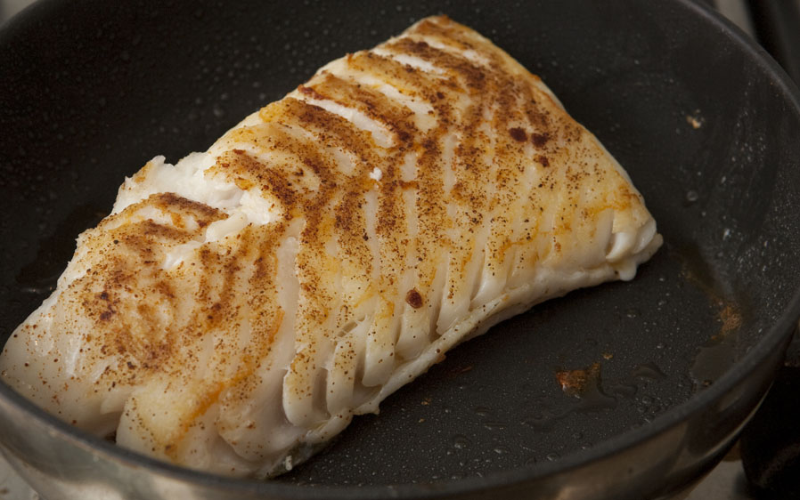 Properly Cooked White Fish-Cod
