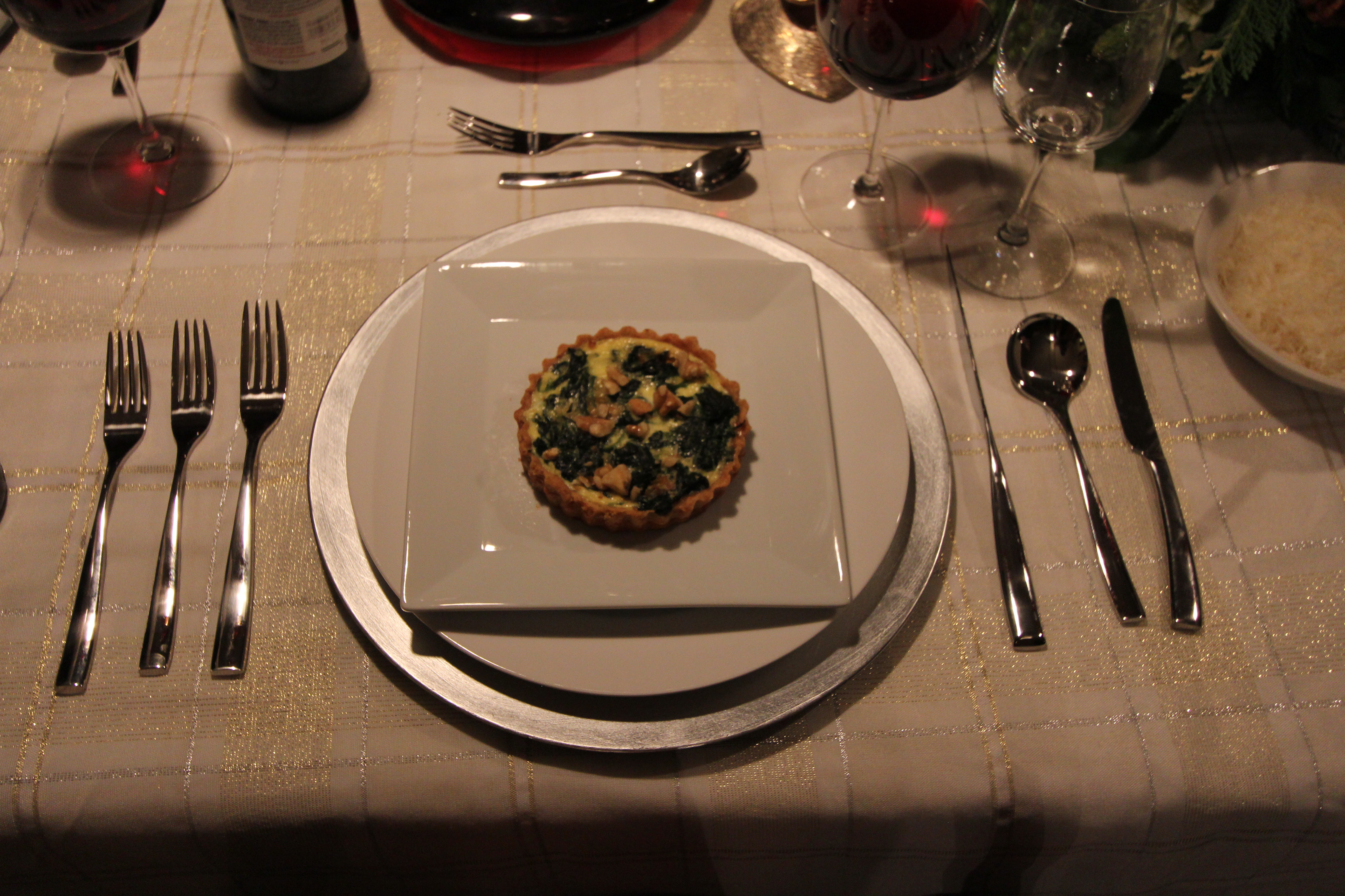 Gorgonzola and Spinach Tarts